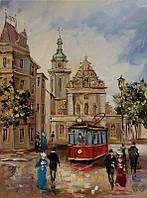 «Улицами Львова» картина маслом