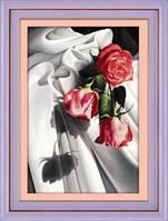 Набор для рисования камнями (холст) 5D Постель, розы LasKo