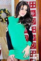 Спортивное зеленое стильное платье Джордан . Арт-1438/17