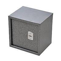 Сейф мебельный металлический для денег бумаг документов 30х30х25 см (Маленький сейф с механическим замком), фото 1