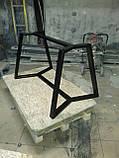 Каркас стола NORGE в скандинавском стиле под круглую столешницу d900mm из трубы 50х25, фото 4