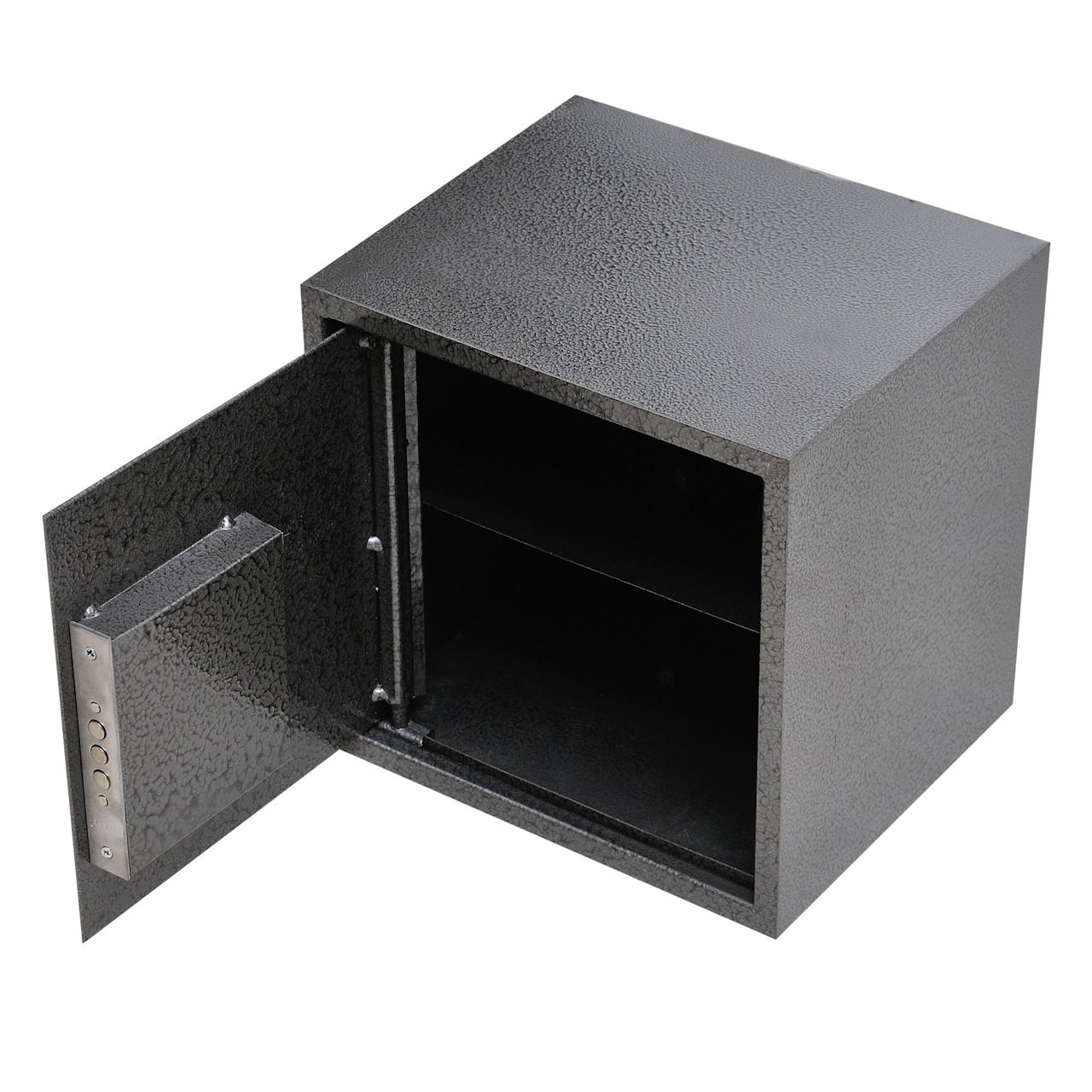 Сейф мебельный металлический для денег бумаг документов 40х40х35 см (Маленький сейф с механическим замком)