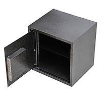 Сейф мебельный металлический для денег бумаг документов 40х40х35 см (Маленький сейф с механическим замком), фото 1
