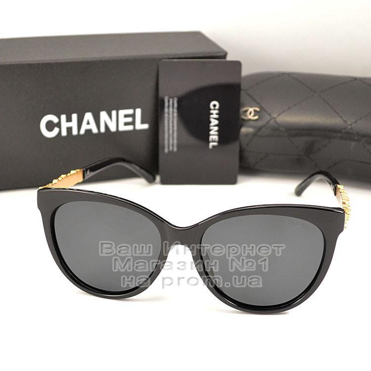 Женские солнцезащитные очки Chanel с поляризацией для водителей Поляризационные Шанель Брендовые реплика