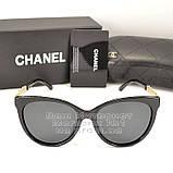 Женские солнцезащитные очки Chanel с поляризацией для водителей Поляризационные Шанель Брендовые реплика, фото 5