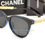 Жіночі сонцезахисні окуляри Chanel з поляризацією для водіїв Поляризаційні Шанель Брендові репліка, фото 2