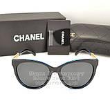 Жіночі сонцезахисні окуляри Chanel з поляризацією для водіїв Поляризаційні Шанель Брендові репліка, фото 5