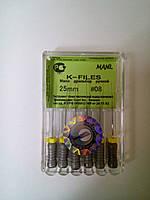 К-файлы № 08 25мм Мани (K-files MANI)