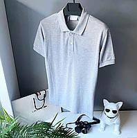 Мужская футболка поло серая  Размеры: S, M, L, XL, XXL