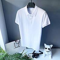 Мужская футболка поло белая   Размеры: S, M, L, XL, XXL