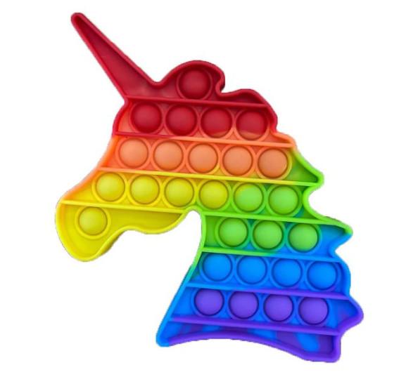 Сенсорная игрушка Pop It Fidget антистресс пупырка Радужный единорог