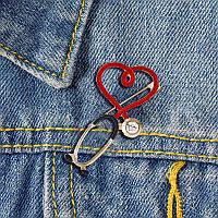Медична Брошка (брошка) на халат Фонендоскоп в подарунок докторові лікаря медсестрі медику