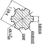 Шліцьовий вал на 6 щлицев метровий, фото 4