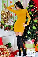 Красивое стильное короткое оливковое платье Ангора. Арт-1447/17