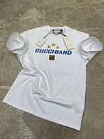 Футболка оверсайз с принтом Gucci Band Белая