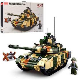 Конструктор SLUBAN M38-B0756 танк, фигурки, 758 детали, в коробке, 52-33,5-7см