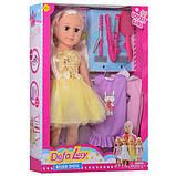 Кукла DEFA 5513 мягконабив,47см,платья 2шт, расческа, плойка, 2вида, в кор-ке, 36-48,5-10,5см, фото 4