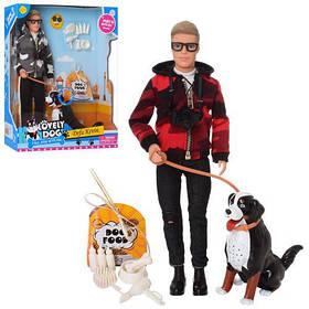 Лялька DEFA 8429 Кен, собачка, аксесуари, 2 види, муз., бат. (таб.), кор., 26-32-8,5 см.