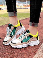 Красочные кроссовки со шнуровкой , стелька 23