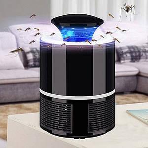 LED Лампа ловушка для комаров и насекомых Mosquito Killer Lapm BRAOUA BR-186 Черная