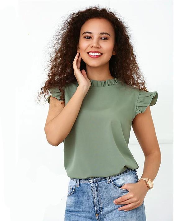 """Річна блузка з софта """"Elen"""""""