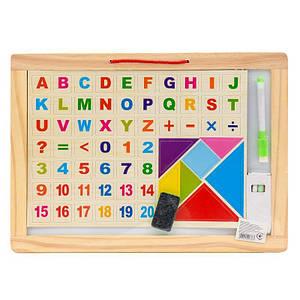 Деревянная игрушка доска для рисования с буквами, (Оригинал)