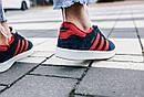 Женские кроссовки Adidas Gazelle Blue Red, фото 6