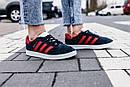 Женские кроссовки Adidas Gazelle Blue Red, фото 8