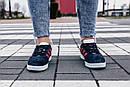 Женские кроссовки Adidas Gazelle Blue Red, фото 9