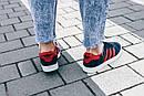 Женские кроссовки Adidas Gazelle Blue Red, фото 5
