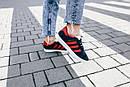 Женские кроссовки Adidas Gazelle Blue Red, фото 4