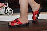 Шльопанці жіночі червоні Б1137, фото 4