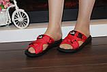 Шльопанці жіночі червоні Б1137, фото 5