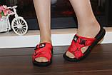 Шльопанці жіночі червоні Б1137, фото 6