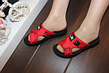 Шльопанці жіночі червоні Б1137, фото 7