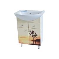 Тумба для ванной Пальмы с умывальником Либра-60
