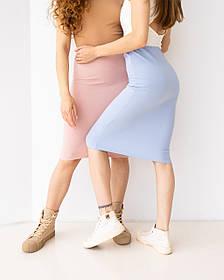Приталенная юбка миди в 3 цветах в размере S/M и L/XL.