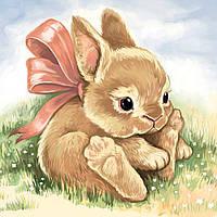 Алмазная вышивка мозаика Чарівний діамант Маленький Кролик КДИ-1065 20х20см 13цветов квадратные полная