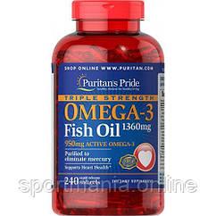 Omega-3 Triple Strength1360 mg (950 mg Active Omega-3) - 240 softgels