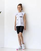 Комплект для девочек велосипедки + футболка, фото 1