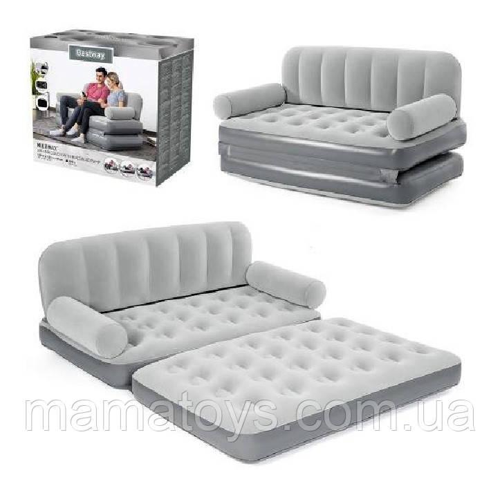 Надувний диван Bestway 75079 з електро насосом 188-152-64 см