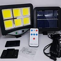Ліхтар-прожектор 128LED сверхяркий з датчиком руху і пультом Solar Wall Lamp BK-128-6+сонячна батарея!