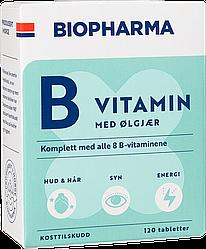 Витамин B с пивными дрожжами Biopharma - 120 таблеток Норвегия