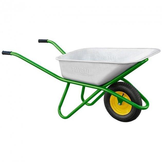 Тачка садовая PALISAD, усиленная, грузоподъемность 200 кг, объем 90 л (689188)