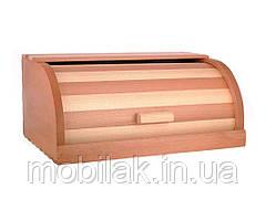 Хлібниця деревяна букова на рейках (комбінована світла) ТМ ЧЕРНІВЦІ