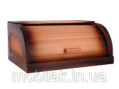 Хлібниця деревяна букова на рейках (комбінована темна) ТМ ЧЕРНІВЦІ