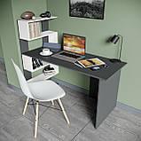 Стол письменный с полками слева, для ноутбука и компьютера S-24, фото 3