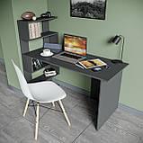 Стол письменный с полками слева, для ноутбука и компьютера S-24, фото 5