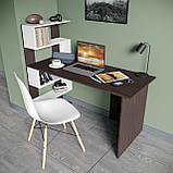 Стол письменный с полками слева, для ноутбука и компьютера S-24, фото 6
