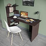 Стол письменный с полками слева, для ноутбука и компьютера S-24, фото 4